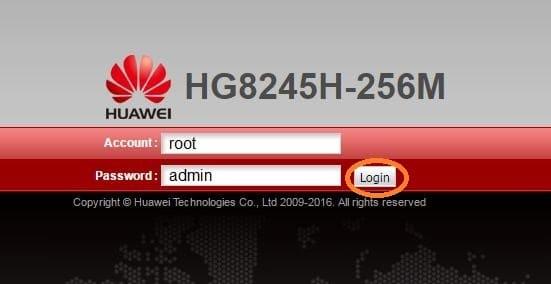 настройка HG8245H-256M