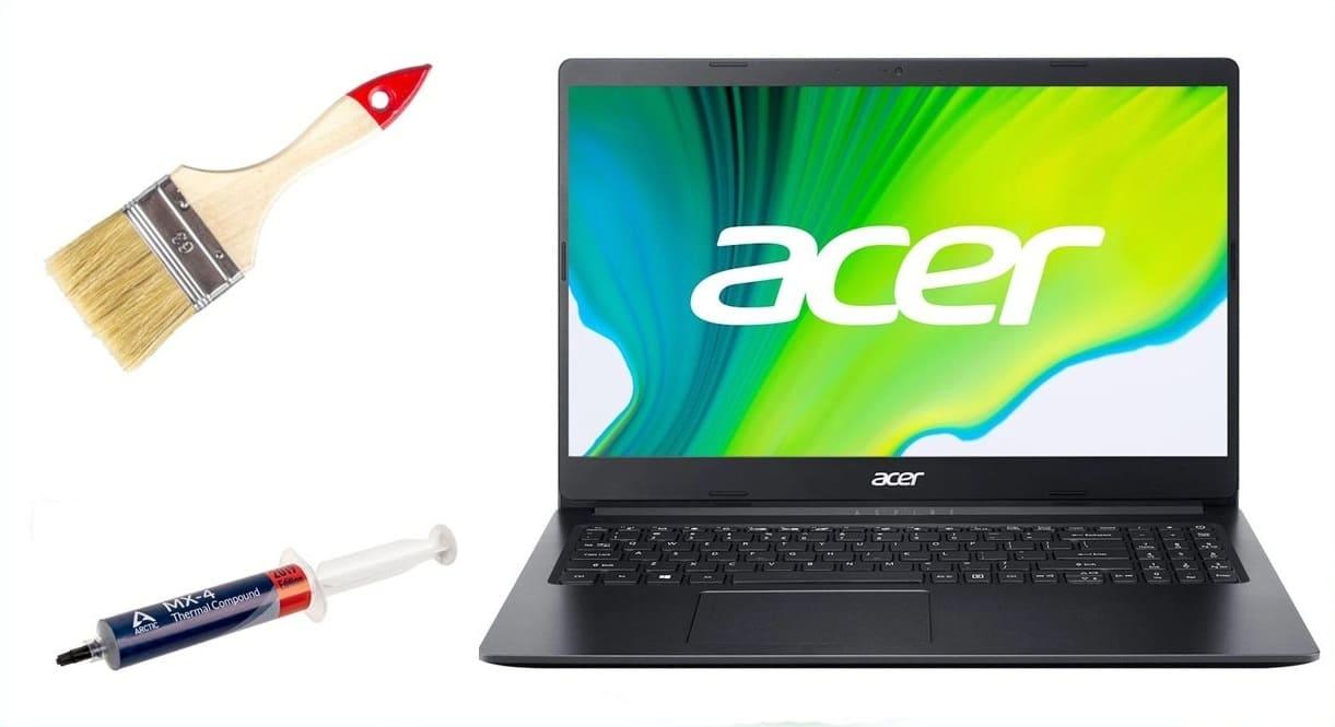 чистка ноутбука acer от пыли замена термопасты