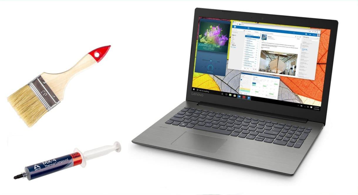 чистка ноутбука Lenovo замена термопасты