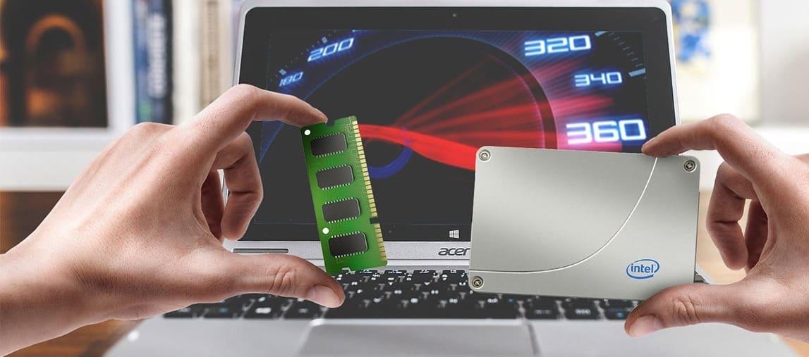 модернизация ноутбука увеличение памяти и установка ssd